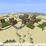 Desert NPC village [1.0.0 minecraft seeds]