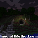 Minecraft Seeds 1.0.0 | Cave Entrance at night