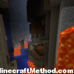 [minecraft seeds] huge lava chasm in EARTH 1.0.0 Seed