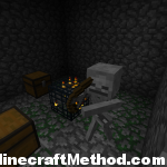 Dungeon with Chests in this Minecraft 1.0.0 seed