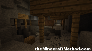 Minecraft Seeds | Fortress Interior with Coal Ore