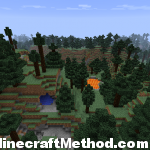 Minecraft Seeds | Landscape view with Water and Lava
