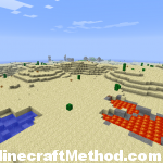 [Minecraft Seeds] Minecraft Seed pokeylucky | Water Lava and an NPC Village