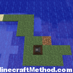 Minecraft Seeds 1.0.0 | Waterworld | Tiny Island Cave Entrance