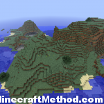 Minecraft 1.0 Seeds | Waterworld | Mountain Terrain