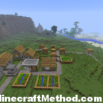 Minecraft 1.2.3 | NPC VIllage with many villagers