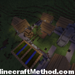 Minecraft Seeds 1.2 | hellamadmen | NPC village at night