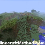 Minecraft 1.2 Seeds | 791396491 | Mountain terrain with NPC Village