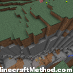 Minecraft Seeds 1.2.3 | 1775670011282668560 | Ravine with mineshaft