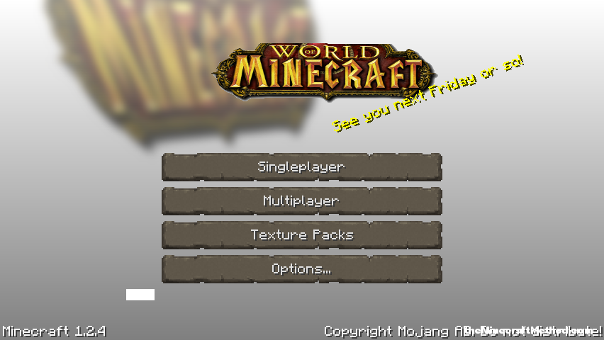 1.2.4 minecraft texture packs | world of minecraft | title screen