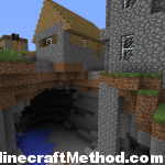Epic Minecraft Seeds | Cutman | npc village atop huge cavern