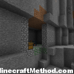 Minecraft 1.2 | -6477892280881969750 | visible dungeon in ravine