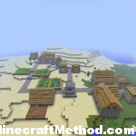 great minecraft seeds | hotelcalifornia | view of village from above