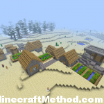 codes for minecraft | village in the desert