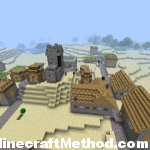 minecraft | village in desert biome