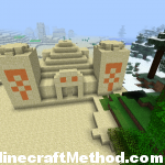 -671258039 desert temple with village in background