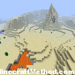 New World 1.4 | surface lava and desert mountains
