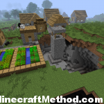 Village in dsfs with cave