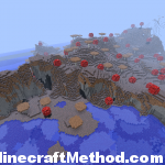 Large Biome overhead view of mushroom island