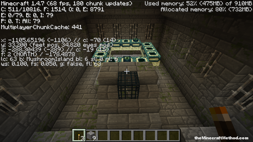 1 4 Stronghold seed with end portal | Minecraft Seeds