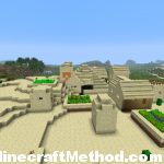 village and a temple in Village and Temple Minecraft Seed | 957537993