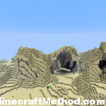 NPC Village in Village and Temple Minecraft Seed | 957537993 with sand mountains