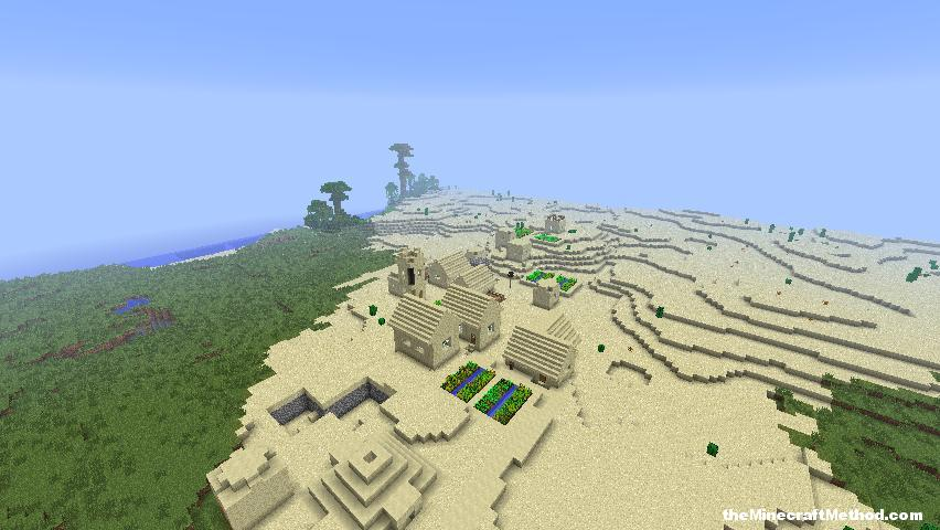 Minecraft Village in the desert