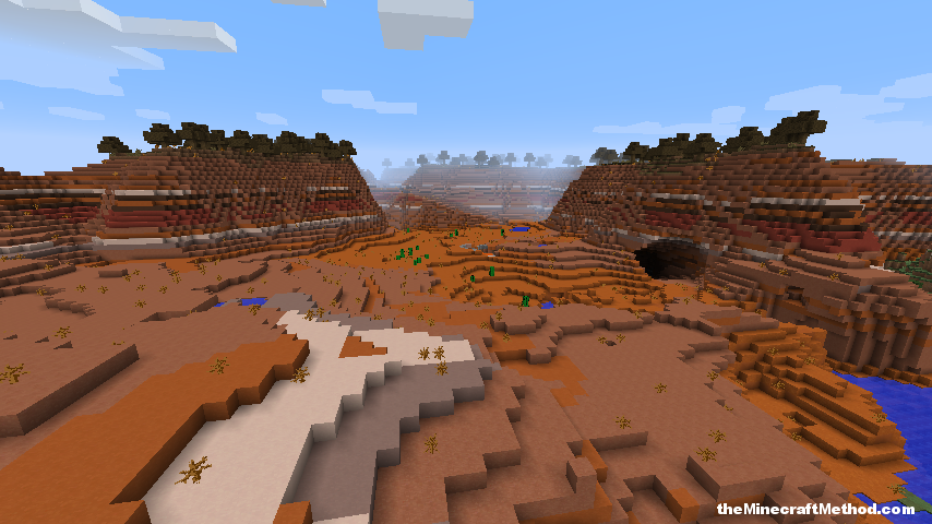 Just a mesa world, spawns you right in it