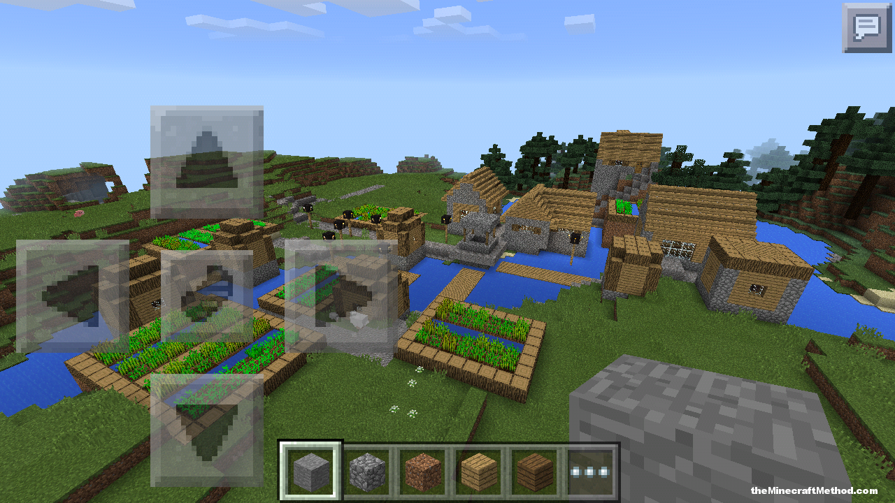 village by the spawn point in this pe seed