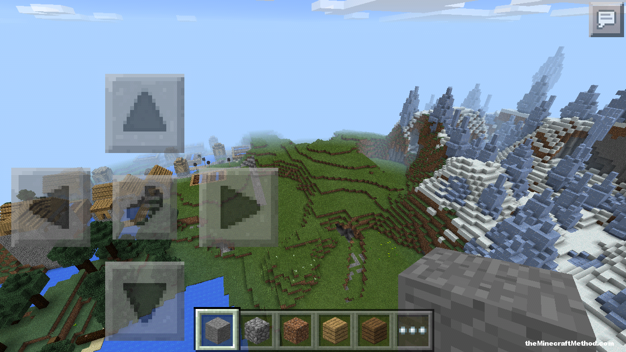 Here's a MCPE ice plain and village seed