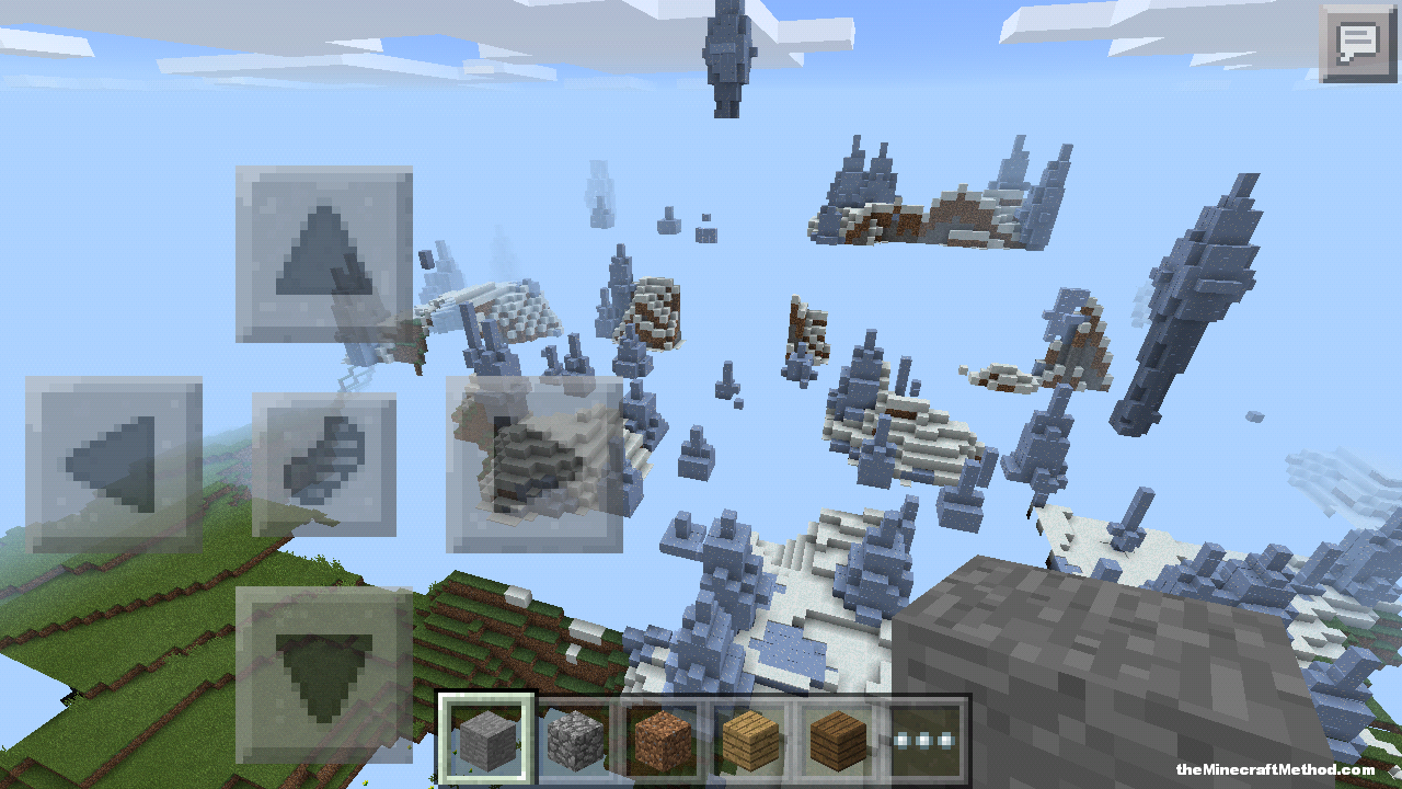 Pocket edition has all the biomes including ice, ice spikes are rad
