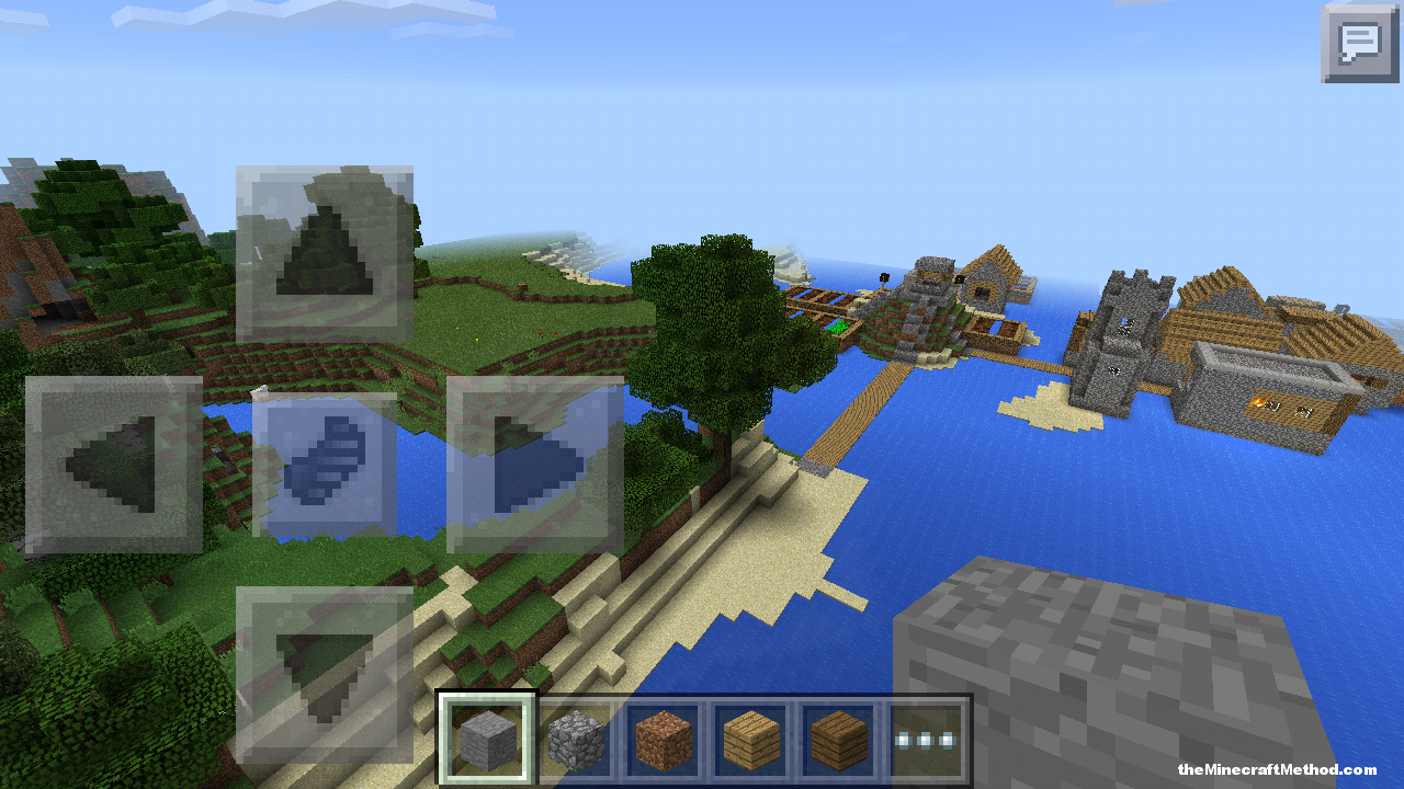Right on the edge of the water is a fishing city