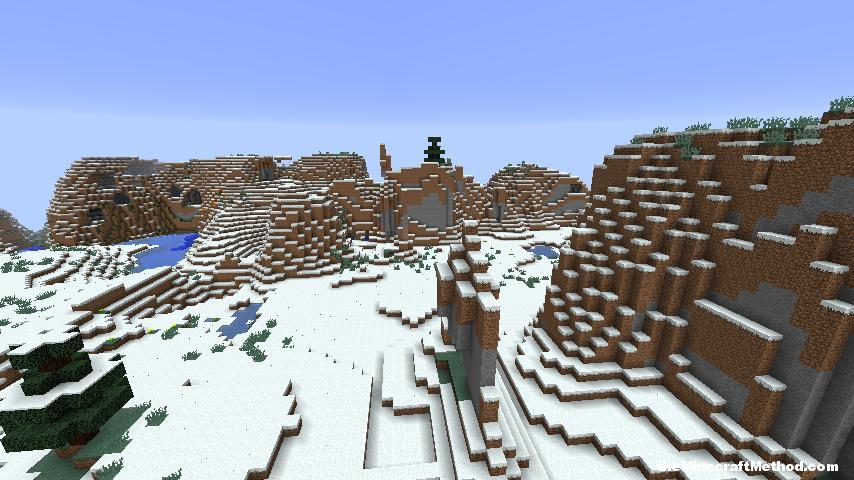 Snow biome Minecraft